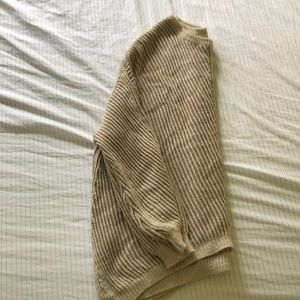 Sweaters - One-size poncho sweater with sleeves
